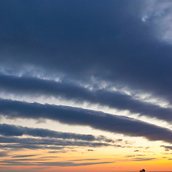 Clouds over the Atlantic Ocean before sunrise, Rye, New Hampshire.
