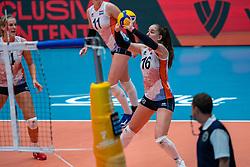Jolijn de Haan of Netherlands in action during United States - Netherlands, FIVB U20 Women's World Championship on July 15, 2021 in Rotterdam
