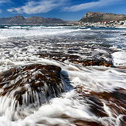 Rising tide in front of the Dalebrook tidal pool in Kalk Bay, South Africa