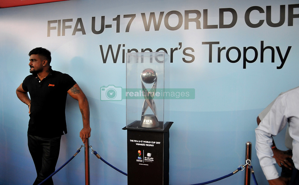 "August 30, 2017 - Kolkata, West Bengal, India - The FIFA U17 World Cup 2017 Winners Trophy visit in Kolkata City  on August 30,2017 in India...The trophy tour will cover almost 9,000 km over a period of 40 days between August 17 and September 26.....Fans will be able to see the trophy in the six host cities starting with New Delhi, where India will be playing their group matches. The silverware will be on display in the capital city from August 17 to 22.....Guwahati will be next stop August 24-29 followed by Kolkata, which will host the final, between August 31 to September 5.  Fans in Mumbai will get to set their sight on the trophy between September 6 and 10, while it is scheduled to be on view in Goa from September 14 to 19.....The final destination will be Kochi where the trophy will reside from September 21 till 26.....Describing the event, Chairman of the LOC Praful Patel said: ""The Trophy Experience will mark the last phase of our event promotion and it is very important, because it will give the fans around the country the opportunity to get up close to the same Official Winner's Trophy that the captain of the winning team of the FIFA U-17 World Cup will be lifting on October 28 in Kolkata.....""This is a once-in-a-lifetime chance and we hope that people can come in large numbers to the display locations in the host cities.""....""This initiative is about bringing the excitement of the FIFA U-17 World Cup Trophy Experience closer to India's fans in the run up to this milestone competition,"" said FIFA Chief Commercial Officer Philippe Le Floc'h.....""The trophy embodies both the dreams of the best U-17 players in the world and those of millions of Indian fans who will be hosting the football World Cup in October,"" he added.....The FIFA U-17 World Cup India 2017 will take place from 6th October to 28th October. (C"