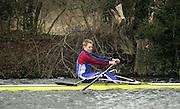 Henley. England, GB Rowing crews training on Henley Reach.<br /> Photo Peter Spurrier.<br /> 11/03/2004 - British International Rowing - Training<br /> Matt Beechey.   [Mandatory Credit. Peter SPURRIER/Intersport Images]