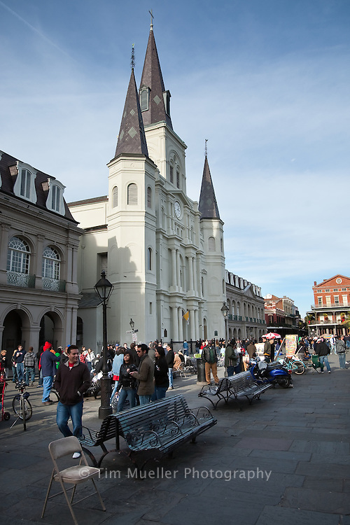 St. Louis Cathedral in New Orleans' Jackson Square.