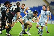 Sam Warburton of Cardiff Blues © makes a break.  Heineken cup rugby, pool 2, Cardiff Blues v London Irish at the Cardiff city Stadium in Cardiff, South Wales on Friday 18th Nov2011. pic by Andrew Orchard, Andrew Orchard sports photography,