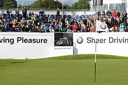 23.06.2015, Golfclub München Eichenried, Muenchen, GER, BMW International Golf Open, Show Event, im Bild Camilo Villegas (COL) schlaegt beim Show Event von der Tribuene ab // during the Show Event of BMW International Golf Open at the Golfclub München Eichenried in Muenchen, Germany on 2015/06/23. EXPA Pictures © 2015, PhotoCredit: EXPA/ Eibner-Pressefoto/ Kolbert<br /> <br /> *****ATTENTION - OUT of GER*****