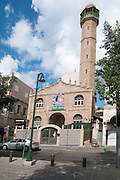 Exterior of the Nuzha Mosque (built 1937) In Jerusalem Boulevard, Jaffa, Israel