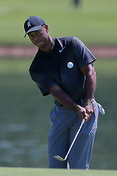September 19, 2018 - Atlanta, Georgia, United States - Tiger Woods warms up during the practice round at the 2018 TOUR Championship. (Credit Image: © Debby Wong/ZUMA Wire)