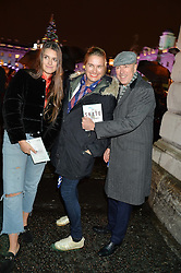DYLAN JONES, his wife SARAH and daughter GEORGINA at Skate At Somerset House with Fortnum & Mason on 16th November 2016.DYLAN JONES, his wife SARAH WALTER and daughter GEORGINA at Skate At Somerset House with Fortnum & Mason on 16th November 2016.