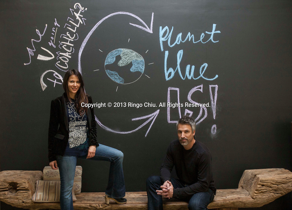 James Williams(R), CEO, and Ling-Su Chinn, founder and president of Planet Blue in Santa Monica. (Photo by Ringo Chiu/PHOTOFORMULA.com).