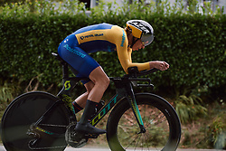 Lisa Norden (SWE) at the 2020 UEC Road European Championships - Elite Women ITT, a 25.6 km individual time trial in Plouay, France on August 24, 2020. Photo by Sean Robinson/velofocus.com
