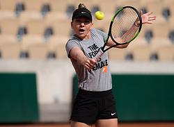 May 22, 2019 - Paris, FRANCE - Simona Halep of Romania during practice at the 2019 Roland Garros Grand Slam tennis tournament (Credit Image: © AFP7 via ZUMA Wire)