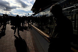 Racegoers during day two of the Showcase at Cheltenham Racecourse