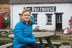 Rebecca Munro at the Boathouse restaurant, which Rebecca helps to run. Feature on the community on the island of Ulva, who have been awarded £4.4m in funding for their island buyout.