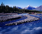 Quill Creek flowing from the Saint Elias Mountains, Kluane National Park Reserve, Yukon Territory, Canada.