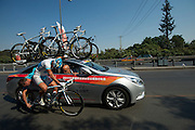 40 kms per hour derailering on the fly - 2011 Tour of Beijing Stage 2