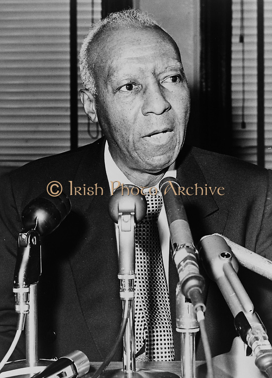 Asa Philip Randolph (1889-1979) prominent  African America civil rights leader.