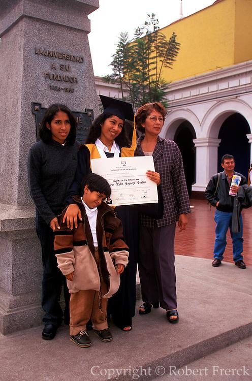PERU, TRUJILLO, EDUCATION University students at graduation