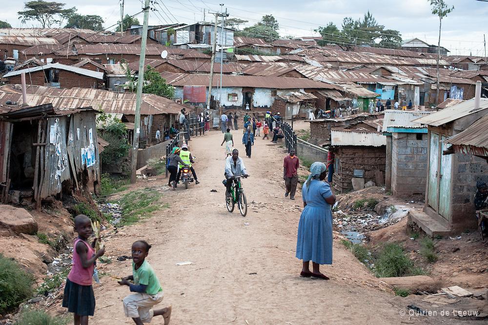 A local village in Kibera slum, Kenya