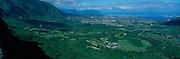 View from Pali Lookout, Nuuanau, Oahu, Hawaii<br />