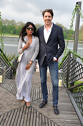 JASON GALE and SINITTA at a party to launch the Taylor Morris Explorer Collection held at the Serpentine Lido, Hyde Park, London on 11th May 2016.