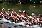 Henley on Thames, England, United Kingdom, 3rd July 2019, Henley Royal Regatta, Heat of the Princess Elizabeth Challenge Trophy,  St Pauls School,  concord, USA, move away from the start, on Henley Reach, [© Peter SPURRIER/Intersport Image]<br /> <br /> 11:40:24 1919 - 2019, Royal Henley Peace Regatta Centenary,