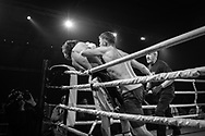 Ultimate bare-Knuckle boxing competition at Manchester's Bowlers Exhibition Centre, Old Trafford, Manchester, UK.<br /> Photo shows Ben 'The Bull' Shields, who won his fight against Curtis Leadbetter.<br /> Photo ©Steve Forrest/Workers' Photos