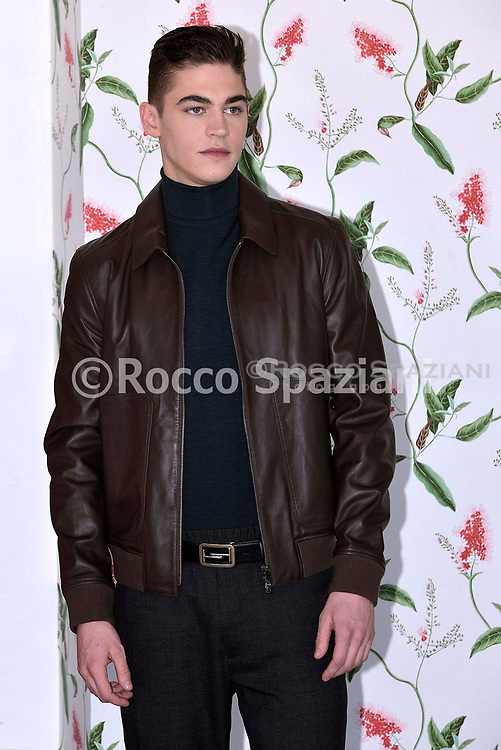 Actor Hero Fiennes Tiffin attend 'After Movie (After) photocall at the Rome Italy on March 31, 2019