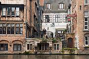 Canal front buildings, Bruges, Belgium