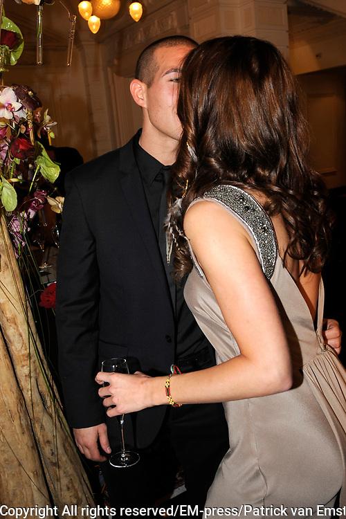 Uitreiking Beau Monde Awards in het Amstel Hotel, Amsterdam.<br /> <br /> Op de foto:  Sylvia Geersen en partner