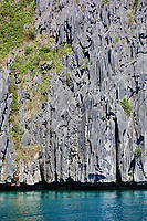 Cadlao island rocks cliff of El Nido Palawan in in Philippines