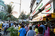 People are coming to Elco Veg Restaurant on Hill Road in Bandra West for an afternoon snack, Mumbai, India