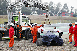 March 1, 2018 - Barcelona, Spain - ERICSSON Marcus (swe), Alfa Romeo Sauber F1 Team C37, in the gravels during Formula 1 winter tests 2018 at Barcelona, Spain from February 26 to March 01 - Photo Florent Gooden / DPPI  (Credit Image: © Hoch Zwei via ZUMA Wire)