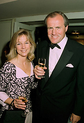 MR & MRS JUSTIN CADBURY at a reception in London on 12th June 1997.<br /> LZH 80