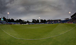 Photographer Simon King/Replay Images<br /> <br /> Vitality Blast T20 - Round 14 - Glamorgan v Surrey - Friday 17th August 2018 - Sophia Gardens - Cardiff<br /> <br /> World Copyright © Replay Images . All rights reserved. info@replayimages.co.uk - http://replayimages.co.uk