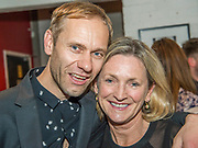 Director<br /> James Hillier with Producer<br /> Trish Wadley - Press night party for A Lie of the Mind by Sam Shepard a new production by Defibrillator at the Southwark Playhouse, London.