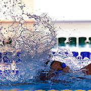 Oussama Mellouli, Tunisia winning silver in the Men's 400m Freestyle Gold at the World Swimming Championships in Rome on Sunday, July 7, 2009. Photo Tim Clayton.