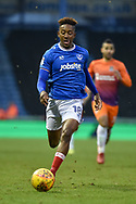 Portsmouth Forward, Jamal Lowe (18) during the EFL Sky Bet League 1 match between Portsmouth and Northampton Town at Fratton Park, Portsmouth, England on 30 December 2017. Photo by Adam Rivers.