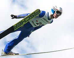 27.09.2015, Energie AG Skisprung Arena, Hinzenbach, AUT, FIS Ski Sprung, Sommer Grand Prix, Hinzenbach, im Bild Rune Velta (NOR) // during FIS Ski Jumping Summer Grand Prix at the Energie AG Skisprung Arena, Hinzenbach, Austria on 2015/09/27. EXPA Pictures © 2015, PhotoCredit: EXPA/ Reinhard Eisenbauer