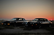 BOLO Photo<br /> Wild West Automotive Photography<br /> Stranded After the Great American Eclipse<br /> 21 Aug 17<br /> US 85 just outside Torrington, Wyoming<br /> BLACK BEAUTY (1987 Buick Turbo T: Wayne Emmons)  and BANDIT(1979 Pontiac Trans Am)