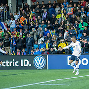 ANDORRA LA VELLA, ANDORRA. June 1.  Kylian Mbappe #10 of France celebrates with Antoine Griezmann #7 of France after scoring his sides first goal during the Andorra V France 2020 European Championship Qualifying, Group H match at the Estadi Nacional d'Andorra on June 11th 2019 in Andorra (Photo by Tim Clayton/Corbis via Getty Images)