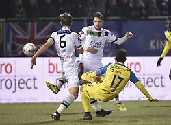 February 17, 2018 - Leuven, BELGIUM - Beerschot's Hernan Losada scores a goal during a soccer game between OH Leuven and KFCO Beerschot Wilrijk, in Heverlee, Leuven, Saturday 17 February 2018, on day 27 of the division 1B Proximus League competition of the Belgian soccer championship. BELGA PHOTO BRUNO FAHY (Credit Image: © Bruno Fahy/Belga via ZUMA Press)