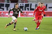 Fussball: 2. Bundesliga, FC St. Pauli - VFL Bochum, Hamburg, 28.01.2021<br /> Finn Ole Becker (Pauli, M.)<br /> © Torsten Helmke