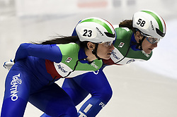 February 8, 2019 - Torino, Italia - Foto LaPresse/Nicolò Campo .8/02/2019 Torino (Italia) .Sport.ISU World Cup Short Track Torino - 1500 meter Ladies Quater Finals.Nella foto: Cynthia Mascitto, Cecilia Maffei..Photo LaPresse/Nicolò Campo .February 8, 2019 Turin (Italy) .Sport.ISU World Cup Short Track Turin - 1500 meter Ladies Quater Finals.In the picture: Cynthia Mascitto, Cecilia Maffei (Credit Image: © Nicolò Campo/Lapresse via ZUMA Press)