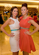Aisling and Grainne Faherty  from An Spideal, Galway at the Take Me Out for Cancer Care West in the Sathill Hotel, Galway . Photo:Andrew Downes.
