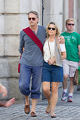 Jeremy Irons and his wife in Madrid 21-9-12