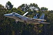 Israeli Air force F-15C Fighter jet landing