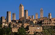 View of San Gimignano from far.