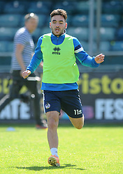 Bristol Rovers' Jake Gosling trains ahead of the Vanarama Conference Play-Off Final - Photo mandatory by-line: Dougie Allward/JMP - Mobile: 07966 386802 - 12/05/2015 - SPORT - Football - Bristol - Memorial Stadium - Bristol Rovers v Grimbsy Town - Vanarama Football Conference