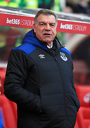 Everton manager Sam Allardyce ahead of the Premier League match at the bet365 Stadium, Stoke.
