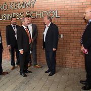 31.08. 2017.                                   <br /> Leaders in the pharmaceutical manufacturing sector in Ireland gathered at University of Limerick today for the third annual Pharmaceutical Manufacturing Technology Centre (PMTC) Knowledge Day.<br /> <br /> Sean Kelly MEP was greeted by Luuk Van der Wielen, Director Bernal Institute, UL on his arrival.<br /> <br /> The event provided a showcase for the cutting-edge research supported by the centre with key note addresses from industry thought leaders who shared their vision of the future for the pharmaceutical sector. Picture: Alan Place