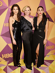 """Lena Dunham and Jennifer Konner at HBO's """"Golden Globe Awards"""" After Party held at the Beverly Hilton Hotel on January 7, 2018 in Beverly Hills, CA. Janet Gough/AFF-USA.com. 07 Jan 2018 Pictured: Sofia Pernas, Anne Heche and Natacha Karam. Photo credit: MEGA TheMegaAgency.com +1 888 505 6342"""